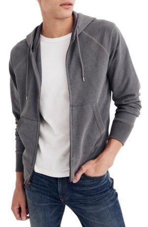 Men's Madewell Zip Hoodie, Size XX-Large - Grey