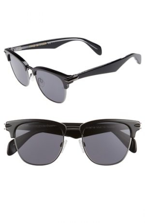 Men's Rag & Bone 52Mm Polarized Sunglasses - Black Ruth/ Polar
