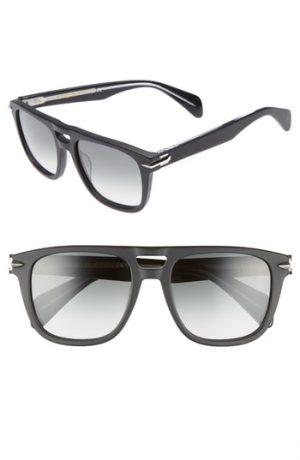 Men's Rag & Bone 53Mm Sunglasses - Matte Black