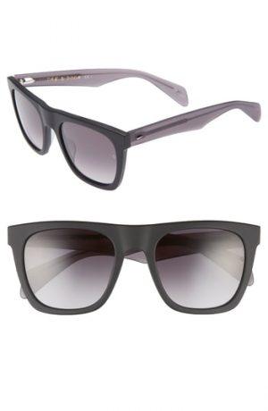 Men's Rag & Bone 54Mm Gradient Sunglasses - Blue/ Dark Grey