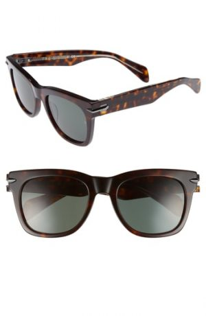 Men's Rag & Bone 54Mm Sunglasses - Dark Havana