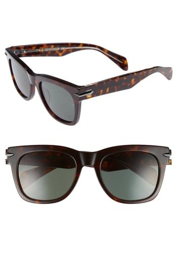 Men's Rag & Bone 54Mm Sunglasses - Dark Havana