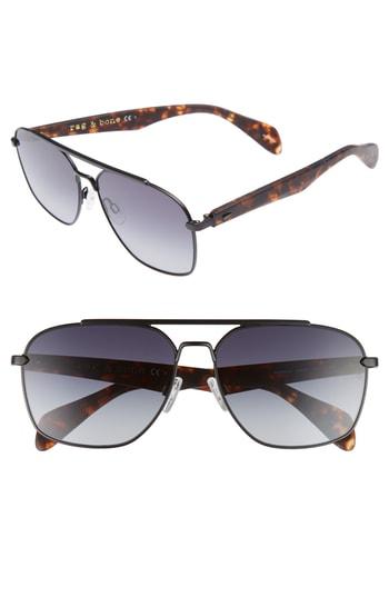 a54595920b0 Men s Rag   Bone 60Mm Gradient Navigator Sunglasses – Matte Black  Havana