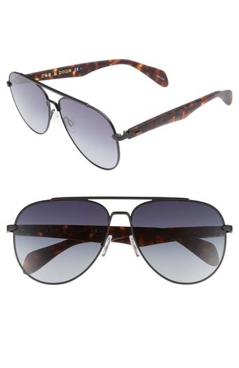5451eb4b7f26 Men's Rag & Bone 62Mm Aviator Sunglasses – Matte Black | The Fashionisto