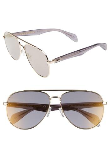 f539168e04ce6 Men s Rag   Bone 62Mm Oversize Aviator Sunglasses – Gold
