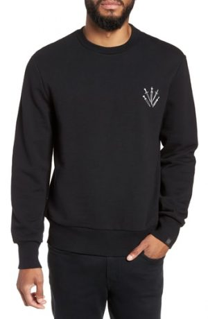 Men's Rag & Bone Dagger Regular Fit Sweatshirt, Size Small - Black
