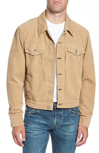 Men's Rag & Bone Definitive Corduroy Jacket, Size Small - Beige