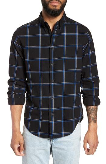 Men's Rag & Bone Fit 2 Tomlin Slim Fit Sport Shirt, Size Small - Black