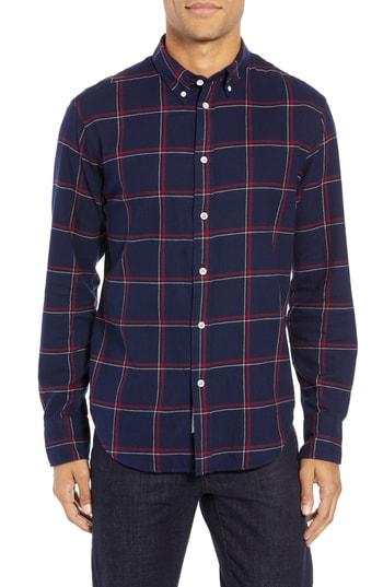 Men's Rag & Bone Fit 2 Tomlin Slim Fit Sport Shirt, Size Small - Blue