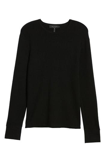 Men's Rag & Bone Gregory Merino Wool Blend Crewneck Sweater, Size XX-Large - Black