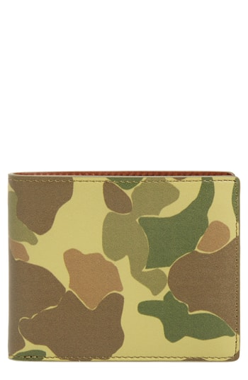 Men's Rag & Bone Hampshire Leather Bifold Wallet - Green