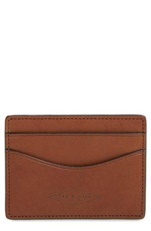 Men's Rag & Bone Hampshire Leather Card Case - Brown