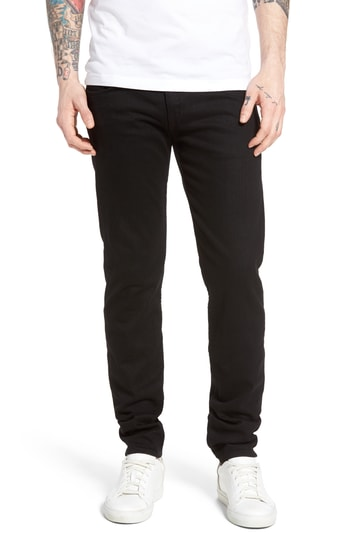 Men's Rag & Bone Standard Issue Fit 1 Skinny Fit Jeans, Size 29 - Black
