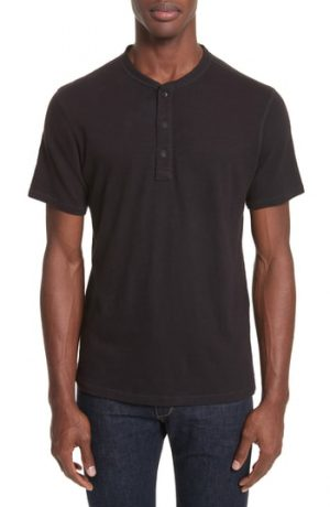 Men's Rag & Bone Standard Issue Henley T-Shirt, Size Small - Black