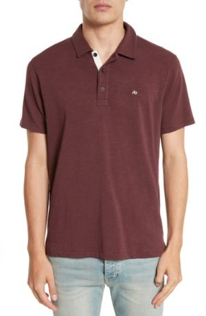 Men's Rag & Bone Standard Issue Slub Jersey Polo