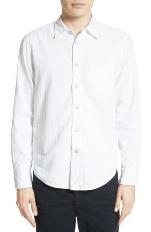 Men's Rag & Bone Standard Issue Solid Sport Shirt, Size Small - White