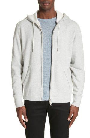 Men's Rag & Bone Standard Issue Zip Hoodie, Size Small - Grey