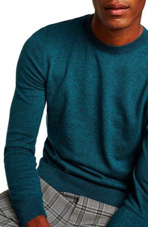 Men's Topman Classic Crewneck Sweater, Size Large - Blue