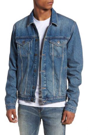 Men's Topman Mid Wash Denim Jacket