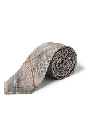 Men's Topman Plaid Tie, Size One Size - Grey