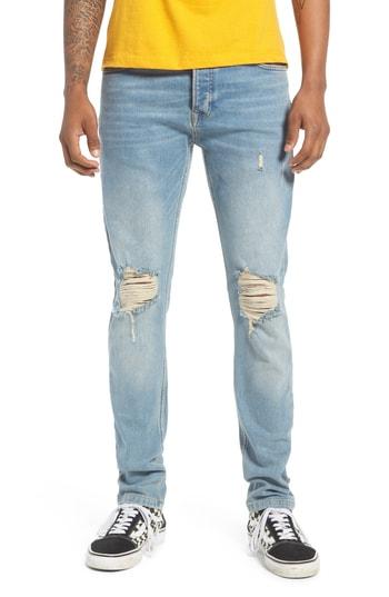 Men's Topman Ripped Stretch Skinny Jeans