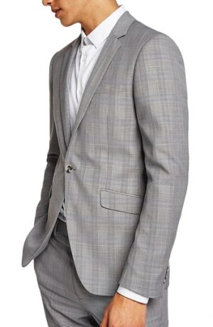 Men's Topman Skinny Fit Check Suit Jacket
