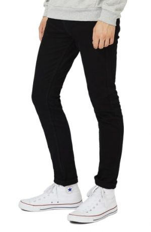 Men's Topman Skinny Stretch Jeans, Size 38 x 34 - Black