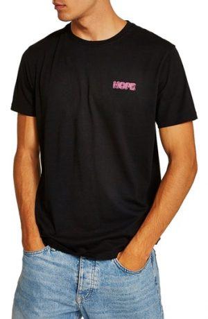 Men's Topman Still Hope Classic Fit T-Shirt, Size Large - Black