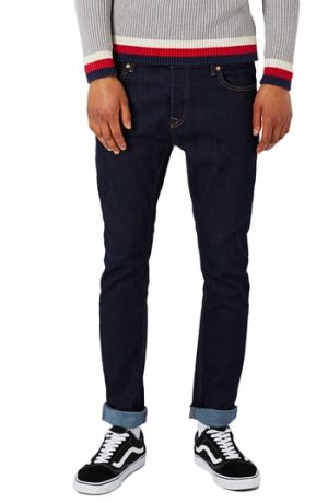 Men's Topman Stretch Skinny Fit Raw Denim Jeans