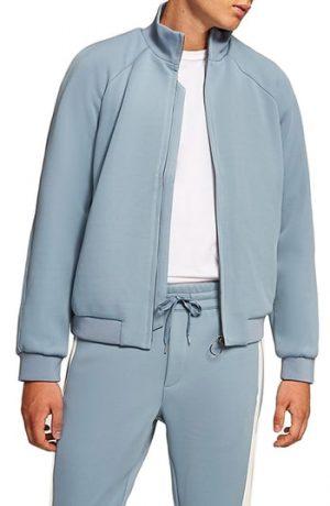 Men's Topman Track Jacket, Size XX-Large - Blue