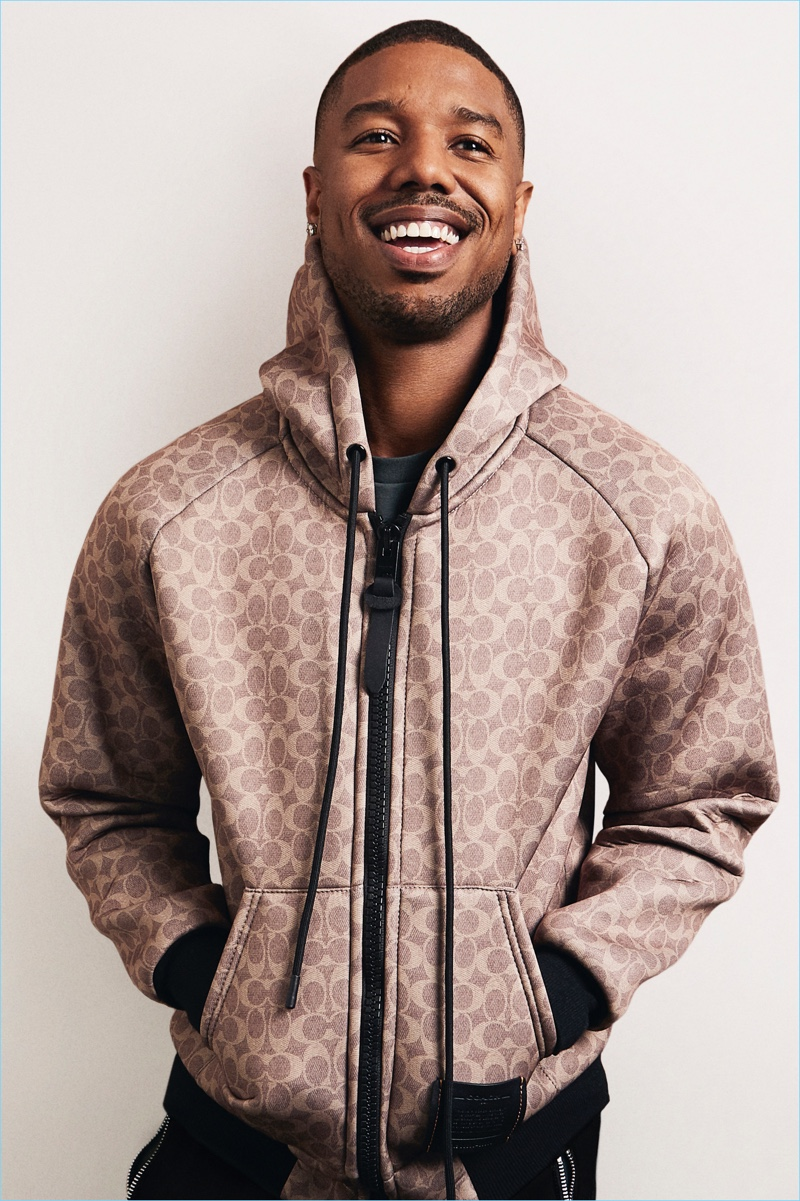 All smiles, Michael B Jordan is the latest face of Coach.