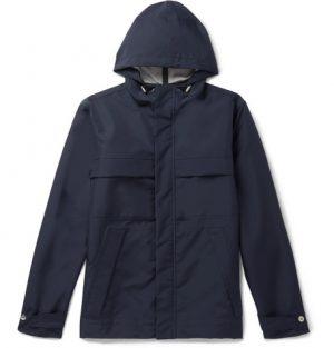 Mr P. - Shell Hooded Jacket - Navy