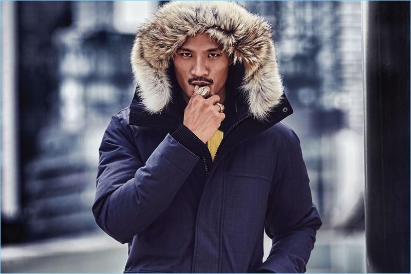 Paolo Roldan stars in Nobis' fall-winter 2018 campaign.