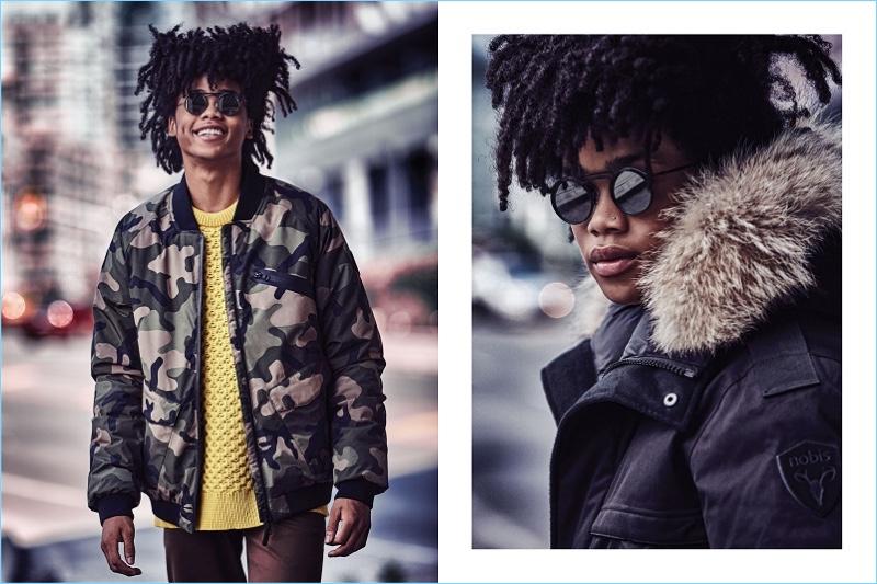 Dulcedo model Immanuel fronts Nobis' fall-winter 2018 campaign.