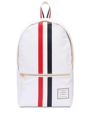 Nylon Backpack W/ Printed Rubber Stripes