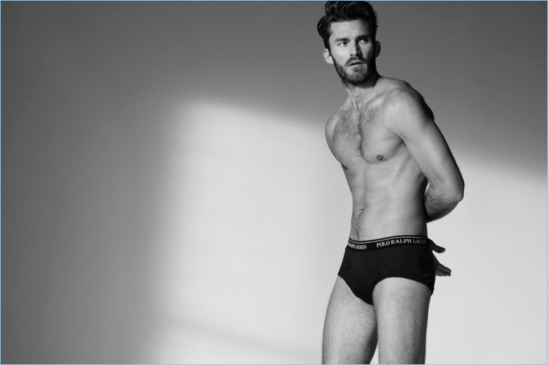 Zach Pricer stars in POLO Ralph Lauren's fall-winter 2018 underwear campaign.