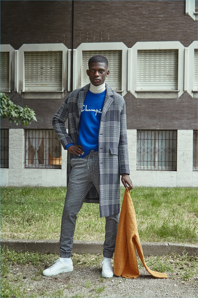 Malick Darbo fronts Paolo Pecora's fall-winter 2018 campaign.