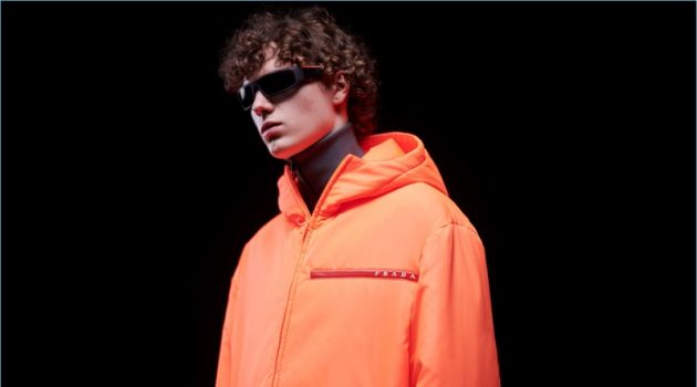 Daan Duez fronts Prada Linea Rossa's digital campaign.