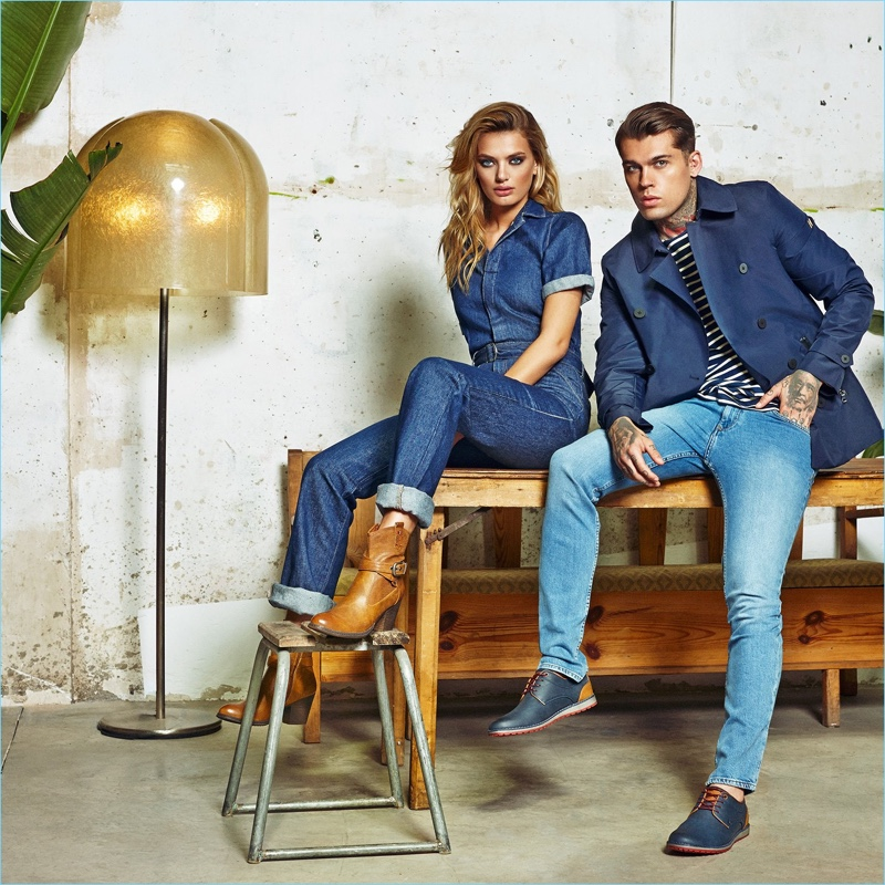 Bregje Heinen and Stephen James star in Refresh Shoes' fall-winter 2018 campaign.