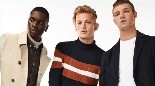 Junior Choi, Sebastian Sauvè, and Wiktor Sudol star in fall 2018 style edit for River Island.