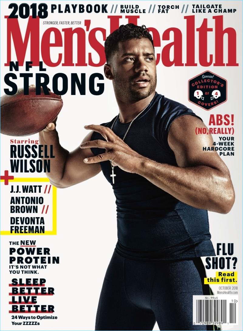 Russell Wilson covers the October 2018 issue of Men's Health.