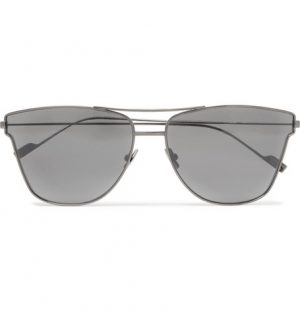 Saint Laurent - Aviator-Style Gunmetal-Tone Sunglasses - Gray