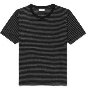 Saint Laurent - Striped Jersey T-Shirt - Black