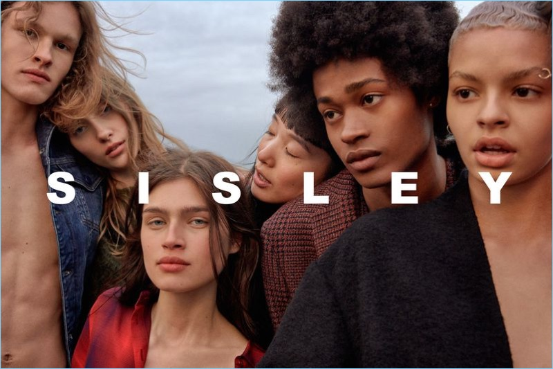 Models Ariel Rosa, Lia Pavlova, Nastya Zakharova, and Jonny Brown star in Sisley's fall-winter 2018 campaign.