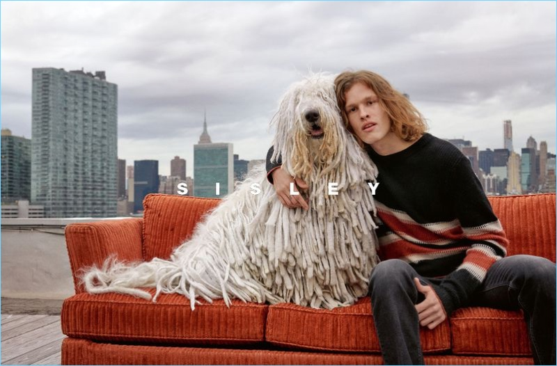 Ariel Rosa stars in Sisley's fall-winter 2018 campaign.