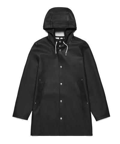 Stutterheim Stockholm Basic Raincoat in Black