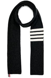 Thom Browne Cashmere 4 Bar Scarf in Gray