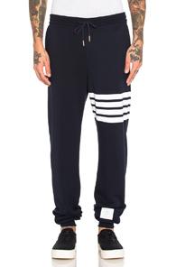 Thom Browne Cotton Sweatpants in Blue