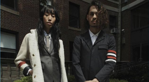 Barneys features pieces from Thom Browne for its latest lookbook.
