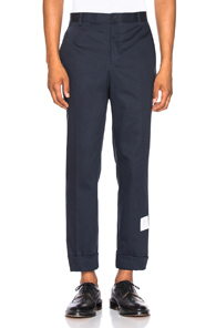 Thom Browne Unconstructed Chino in Blue